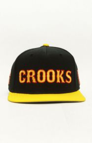 Crooks League Snap-Back Hat - Black