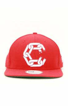 New Chain C Snap-Back Hat - True Red