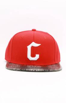 Snake Eyes Snap-Back Hat - Red