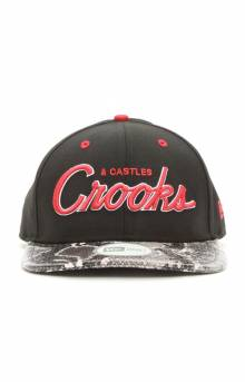 Stadium Crooks NE Strap-Back Hat - Black