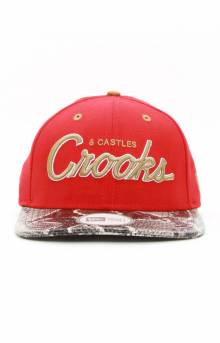 Stadium Crooks NE Strap-Back Hat - Red