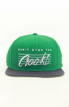 Vintage Sport Snap-Back Hat - Green
