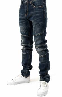 (CRYSP219-106) Montana Denim Jeans - Deep Blue