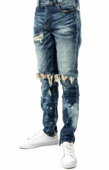 (CRYSP219-116) Pacific Denim Jeans - Mid Blue