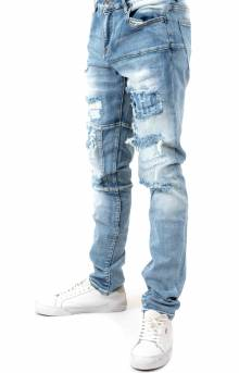 (CRYSP219-118) Atlantic Denim Jeans - Blue Ripped