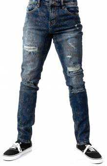 (CRYSPF218-109) Pacific Denim Jeans - Dark Blue Ripped