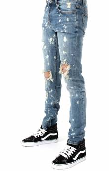 (CRYSPF218-110) Pacific Denim Jeans - Vintage Blue Paint Ripped