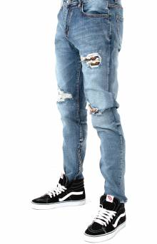 (CRYSPH118-112) Pacific Denim Jeans - Blue Patch