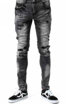 (CRYSPSP220-117) Montana Denim Jeans - Gray Distressed