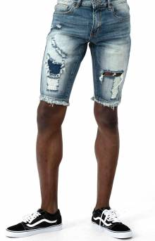 (CRYSPSP220-126) Philips Denim Shorts - Indigo Distressed