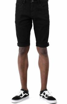 (CRYSPSP220-147) Philips Denim Shorts - Black Stripe