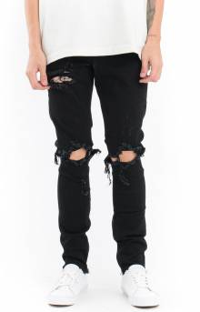 (CRYSU118-PAC16) Pacific Denim Jeans - Black Ripped