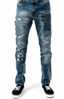 (CRYSU119-132) Tony Denim Jeans - Blue Denim