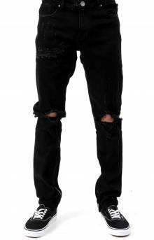 (PAC-16) Pacific Denim Jeans - Black Ripped