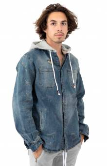 Walsh Denim Hooded Shirt - Blue