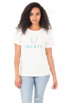 Merci T-Shirt - Washed White