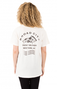 Pizza Delivery T-Shirt - Washed White