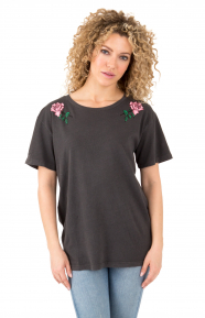 Rose Colored T-Shirt - Washed Black