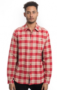 Diamond Supply Clothing, Calcite Button-Up Shirt - Red