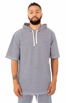 Cast Away S/S Pullover Hoodie - White/Navy