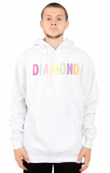 Colour Pop Pullover Hoodie - White