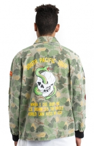Diamond Supply Clothing, Pacific Tour Patch Jacket - Olive Camo
