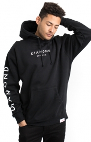 Diamond Supply Clothing, Stone Cut Pullover Hoodie - Black