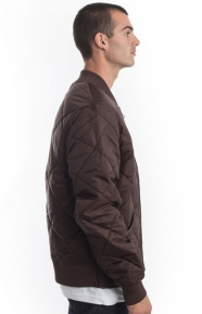 Dickies Clothing, Diamond Quilted Nylon Jacket - Chocolate Brown