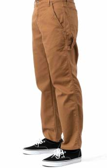(DP901SBD) FLEX Relaxed Fit Tough Max Duck Carpenter Pants - Stonewashed Brown Duck