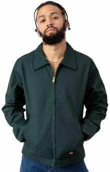 (JT75GH) Unlined Eisenhower Jacket - Hunter Green