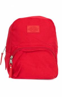 Mini Canvas Backpack - Red