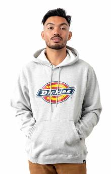 (TW45AHG) Relaxed Fit Logo Fleece Pullover Hoodie - Heather Grey