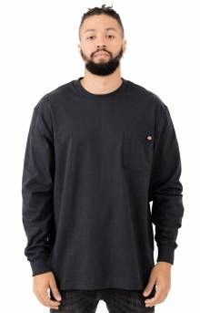 (WL450BK) Long Sleeve Heavyweight Crew Neck Shirt - Black