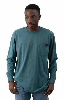 (WL450BUD) Long Sleeve Heavyweight Crew Neck Shirt - Baltic Blue