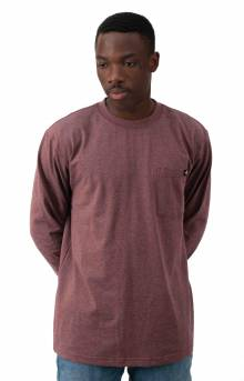 (WL450BYD) Long Sleeve Heavyweight Crew Neck Shirt - Burgundy