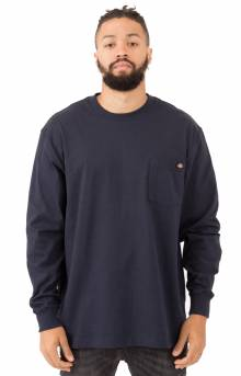 (WL450DN) Long Sleeve Heavyweight Crew Neck Shirt - Dark Navy