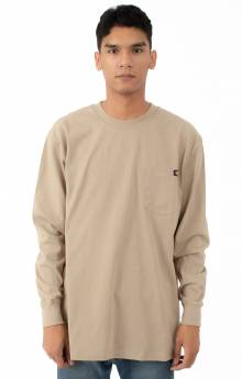 (WL450DS) Long Sleeve Heavyweight Crew Neck Shirt - Desert Sand
