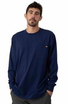 (WL450EL) Long Sleeve Heavyweight Crew Neck Shirt - Deep Blue