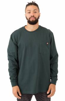 (WL450GH) Long Sleeve Heavyweight Crew Neck Shirt - Hunter Green