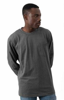 (WL450HCGH) Long Sleeve Heavyweight Crew Neck Shirt - Charcoal Grey Heather