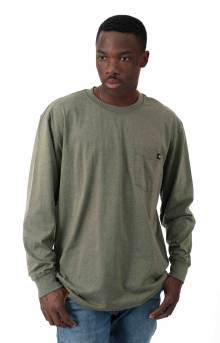 (WL450MLD) Long Sleeve Heavyweight Crew Neck Shirt - Military Green