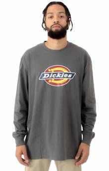 (WL45ASNG) Long Sleeve Regular Fit Icon Graphic Shirt - Stone Grey