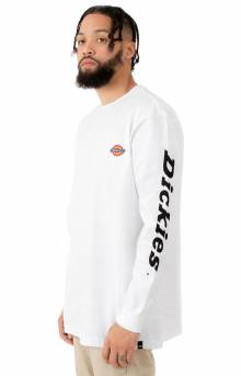 (WL469WH) Dickies Logo Relaxed Fit Graphic L/S Shirt - White