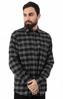 (WL650SKC) FLEX L/S Flannel Shirt - Slate Black Buffalo Plaid