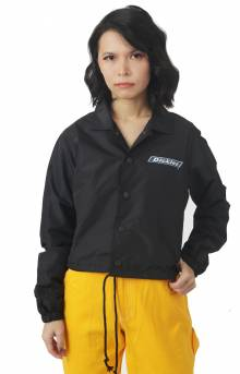 Cropped Windbreaker Jacket - Black