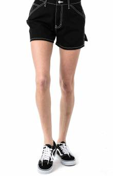 High Rise Carpenter Shorts - Black