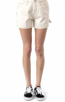 High Rise Carpenter Shorts - Natural