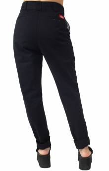 Mid Rise Straight Leg Work Pant - Black