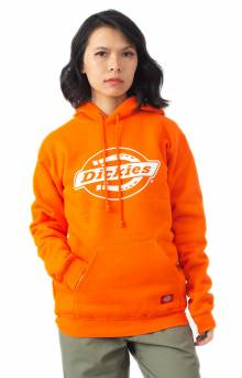 Relaxed Fleece Pullover Hoodie - Orange