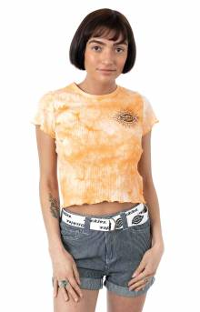 Sunburst Icon Logo T-Shirt - Apricot